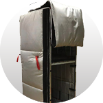 THERMAL COVER ENFORCED EXTERNAL, WITH HINGES, polyester/polyether 400g/m2 (TCE) 1770*800*610
